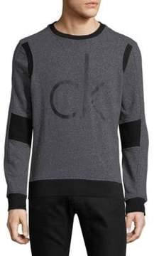 Calvin Klein Jeans Rib-Trimmed Cotton Sweatshirt