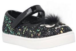 Nina Toddler Girl's Alyx Faux Fur Glittery Mary Jane Sneaker