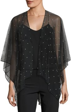 Karl Lagerfeld Pearlescent Tulle Cape