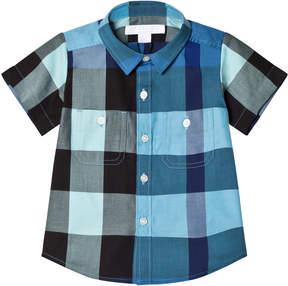 Burberry Light Blue Mini Camber Check Shirt