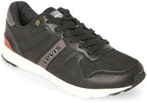 Levi's Black & Charcoal Baylor Denim Low Top Sneakers
