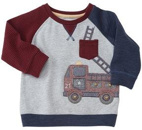 Mud Pie Fire Truck Sweatshirt Boy's Sweatshirt