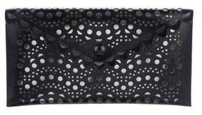 Alaia Laser Cut Leather Clutch w/ Tags