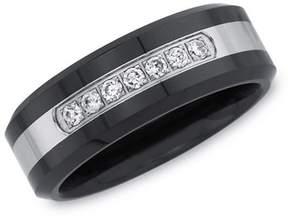 Armani Exchange Jewelry Mens 1/6ct Diamond Wedding Band.