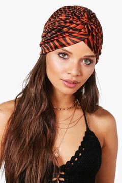 boohoo Penny Printed Jersey Turban