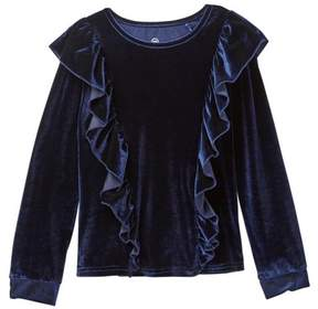 AG Jeans Ruffled Velvet Top (Big Girls)