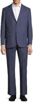 Hickey Freeman Windowpane Wool Suit