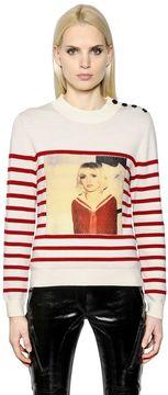 Each X Other Stripe Printed Merino Wool Sweater