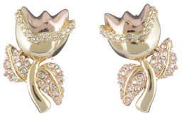 Alexis Bittar Crystal Encrusted Tulip Post Earrings