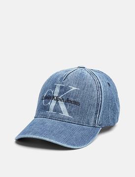 Calvin Klein Monogram Logo Denim Cap
