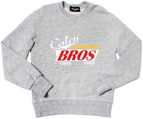 DSQUARED2 Caten Bros Printed Cotton Sweatshirt