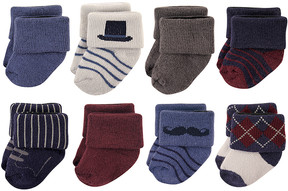 Hudson Baby Burgundy Gentleman Sock Set - Infant