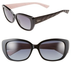 Christian Dior Women's Lady 55Mm Cat Eye Sunglasses - Black/ Pink
