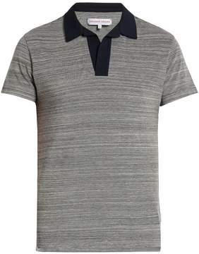 Orlebar Brown Felix two-tone cotton-piqué polo shirt