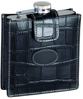 Royce Leather ROYCE 5 Ounce Stainless Steel Flask and Genuine Leather Case