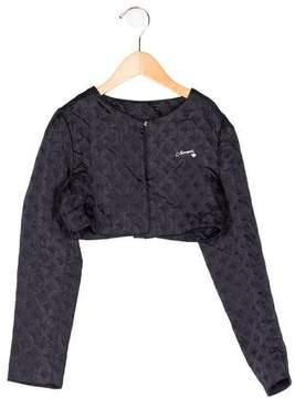 Armani Junior Girls' Jacquard Cropped Jacket w/ Tags