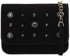 L'Autre Chose Black Suede Belt Bag