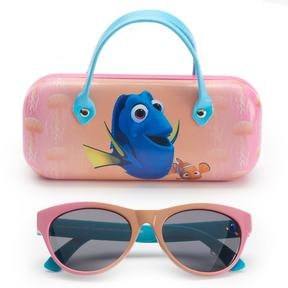 Disney Pixar Finding Dory Girls 4-6x Dory & Nemo Retro Square Sunglasses & Case Set