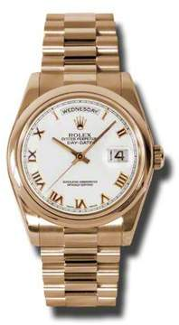 Rolex Day-Date White Dial 18K Everose Gold President Automatic Men's Watch