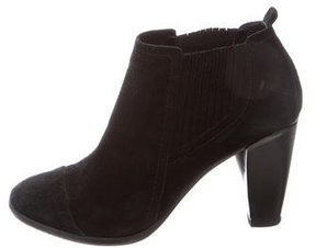 CNC Costume National Suede Round-Toe Ankle Boots
