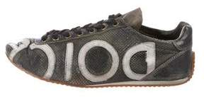 Dolce & Gabbana Leather Logo Sneakers