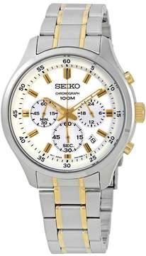 Seiko Chronograph White Dial Men's Watch