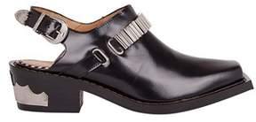 Toga Pulla Women's Black Leather Sandals.