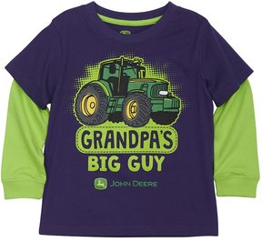 John Deere Toddler Boy Grandpa's Big Guy Mock-Layer Tee