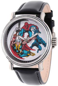Marvel Comics Mens Black Strap Watch-Wma000048