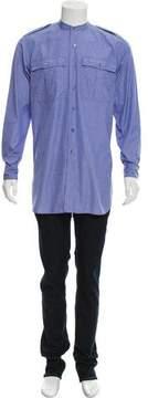 Dries Van Noten Longline Button-Up Shirt