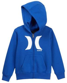 Hurley Icon Zip Front Hoodie (Toddler Boys)