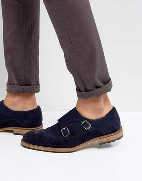 Dune Monk Shoes In Navy Suede
