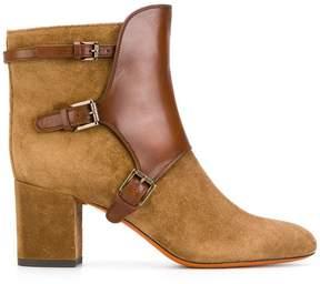 Santoni buckled ankle boots