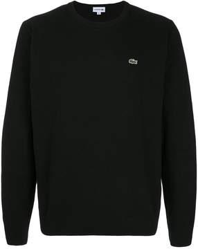 Lacoste logo patch crew neck jumper