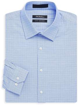 Saks Fifth Avenue BLACK Men's Cotton Slim-Fit Pincheck Shirt