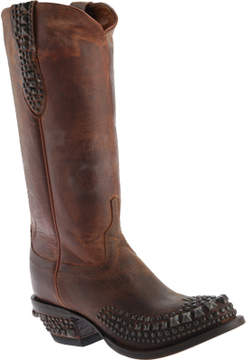 Lucchese Bootmaker M4601.S82F Rounded Spring Toe Stud Wingtip Boot (Women's)