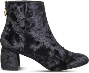 Office Arch enemy velvet ankle boots
