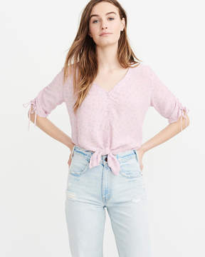 Abercrombie & Fitch Tie-Front Blouse