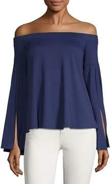 Susana Monaco Women's Off-The-Shoulder Bell-Sleeve Top