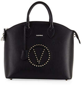 Mario Valentino Valentino By Bravia Rock Dollaro Leather Stud Satchel Bag