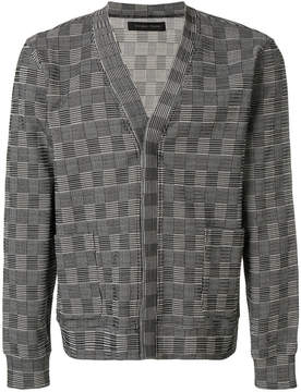 Christian Pellizzari embroidered concealed placket cardigan