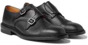 Tricker's Rufus Cap-Toe Leather Monk-Strap Shoes