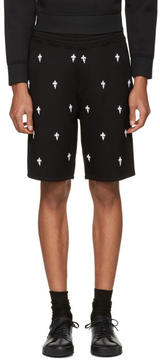 Neil Barrett Black Fleur de Thunder Shorts
