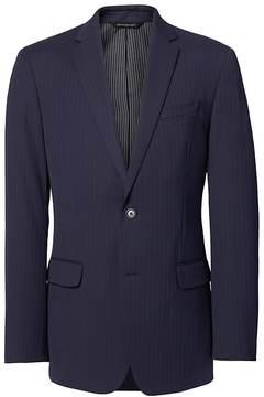 Banana Republic Standard Navy Pinstripe Wool Suit Jacket