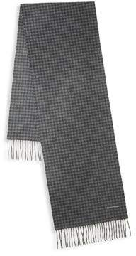 Hickey Freeman Gingham Cashmere Scarf