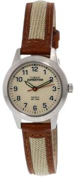 Timex Women's Expedition TW4B11900 Silver Leather Analog Quartz Fashion Watch