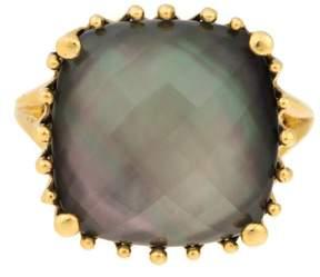 Frederic Sage 18k Yg Small Cushion Black Mop, Crystal, No Diamond Tivoli Ring