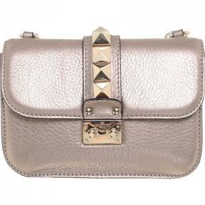 Glam Lock leather crossbody bag
