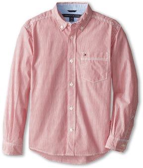 Tommy Hilfiger Kids - Tommy Stripe Shirt Boy's Long Sleeve Button Up