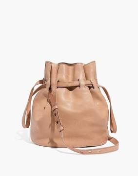 Madewell The Florence Drawstring Bucket Bag in Leather